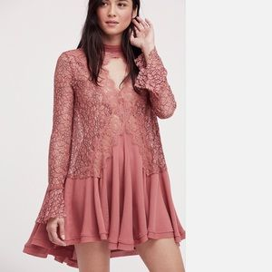 Free People New Secret Lace Tunic NWT